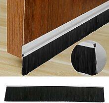Yahee Türbürste Bürstendichtung Türbodendichtung aus Alu für Tür und Fenster, Länge 150cm