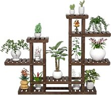 Yaheetech Blumenständer, Pflanzenregal Holz,