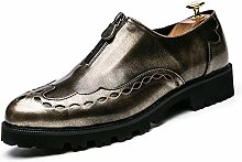 yajie-Shoes, Herren Spiegel PU Leder Design Flache