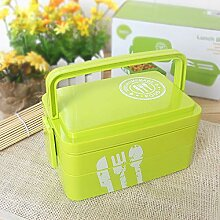 Yalatan Bento Box 2 Tiers Bento Lunch Box