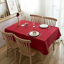 YALINA Rote Tischdecke Hochzeit Tischdecke