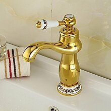 YALL Moderne Garderobe Badewannenhahn Waschbecken Mischbatterien Badezimmer poliert Gold