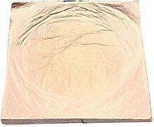 Yalulu 100 Blätter Roségold/Gold Schlagmetall Imitation Blattgold - Format 14 x 14 cm Zum Vergoldung Kunsthandwerk Dekorativ Material Kunst (Roségold)