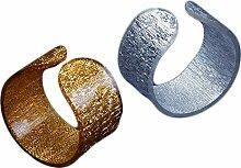 Yalulu 12 Stück Acryl Runde Serviettenringe Servietten Halter Banquet Serviette Ring Dinner Hochzeits Banquet Hotel Dekoration Tischdeko (Gold)