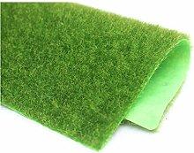 Yalulu 2 Stück 30cm*30cm Miniatur Kleine Künstliche Grüne Unechte Wiese Gartendeko Puppenhaus Miniatur Rasen DIY Fee-Verzierung Dekoration