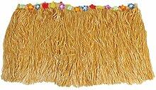 Yalulu 276*75 CM Dressing Tischrock Tisch Hawaiian Gras Vorhänge Tisch Roecke Fadenvorhang Glittervorhang Party Hochzeit Dekoration Deko