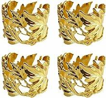 Yalulu 4 Stück Handgemachte Blätter Ahornblatt