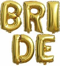 Yalulu 40 Zoll Groß Bride Mylar Folienballon