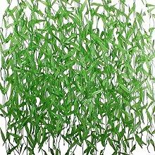 Yalulu 50 Stück Künstliche Wicker Rattan Lvy Vine Rebe Blätter Girlande Pflanzen Fake Laub Blatt Blumen Aufhängen Rebe Pflanze Hochzeit Party Garten Wand Hochzeit Party Dekor Home Ornamen