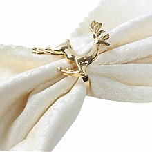 Yalulu 6 Stück Handgemachte Silber Gold Elche