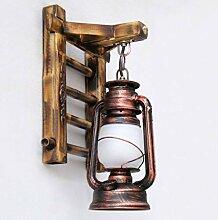 Yalztc-zyq16 Verwitterte industrielle Wandlampe