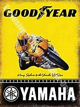 Yamaha Goodyear Rennmotorrad Kenny Roberts Metall/Stahl Wandschild - 30 x 40 cm
