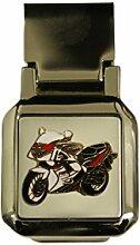 Yamaha Motorrad Scharnier chrom Geld Clip
