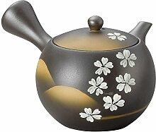 Yamakiikai Japanische Keramik Kyusu Teekanne Black
