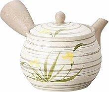 Yamakiikai Japanische Teekanne Kyusu gelbe Blumen