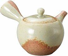 Yamakiikai Japanische Teekanne Kyusu weiß x braun