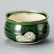 Teeschale Hanatsunagi japanische Teeschale mit schlichter Bord/üre