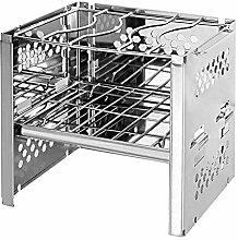 YAMAZA Tragbarer Mini-Holzofen BBQ Net Faltbarer