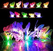 Yamer 12 LED Solar Schmetterling Lichterkette,