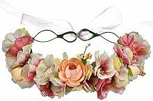 Yamyannie Blumen Stirnband Hochzeit