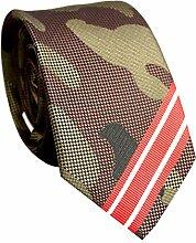Yamyannie Herren Krawatte Mode-Business-Stil Armee