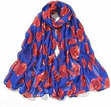 YAN Schal für Frauen Pop Mode Frauen Blumen