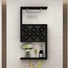 YAN Weinregal Wand-montiert Wohnzimmer Weinschrank