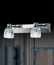 YAN ZHEN LED-Feuchtigkeits-und Nebel-Spiegel vorne Lichter Kristall Spiegelschränkchen Lichter Bad WC Make-up Spiegelleuchten Kopf kann eingestellt werden Wandleuchte ( farbe : Weißes Licht-2Headlights )