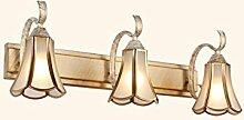 YAN ZHEN LED-Spiegel Vorne Lichter Spiegel Schrank Lichter Badezimmer WC Make-up-Beleuchtung Schlafzimmer American Style Wandleuchte ( farbe : B-3 Leuchten )