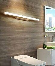 YAN ZHEN Massivholz Spiegel Vorne Lichter Led Spiegel Schrank Lichter Badezimmer Make-up Spiegel Lichter Treppen Schlafzimmer Nachttisch Lampe ( farbe : Warmweiß-80cm )
