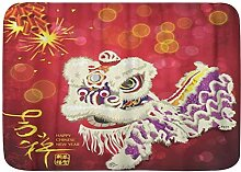 YANAIX Badematte Teppich, Begrüßung Chinese New