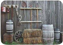 YANAIX Badematte Teppich, Farm Landwirtschaft in