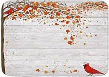 YANAIX Badematte Teppich, Herbst Herbst Ahorn