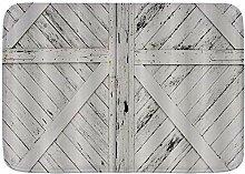 YANAIX Weiche Badematte Teppich, rustikale