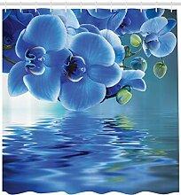 YANAN Blume Duschvorhang Asiatische natürliche