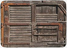 YANAN rustikale Badvorleger, Vintage-Stil, Holz,