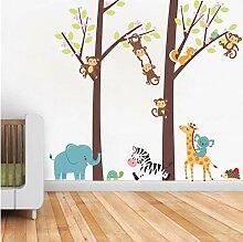 YANCONG Cartoon Tiere Großen Baum Zweig