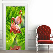 YANCONG Türaufkleber 3D Flamingo, Tropisches