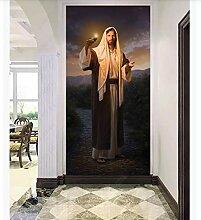 YANCONG Türtapete Jesus Christus Bilder