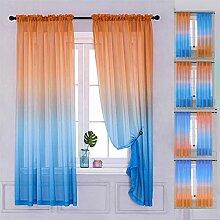 Yancorp Gardinen für Schlafzimmer, 160 cm Länge,