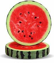 Yancyong 3D-Simulation Pad Weicher Stuhl Matte Kissen Version Abnehmbar Waschbar 37 X 7 Cm, Wassermelone, 37 X 7 Cm