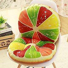 Yancyong Abnehmbare Rutschfeste- Und Rückenpolster Verbunden Ein Büro Stuhl Hocker Sitzkissen Sitzkissen Verdickte Studenten, Farbenprächtige Orangen