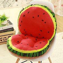 Yancyong Abnehmbare Rutschfeste- Und Rückenpolster Verbunden Ein Büro Stuhl Hocker Sitzkissen Sitzkissen Verdickte Studenten, Wassermelone