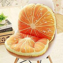 Yancyong Abnehmbare Rutschfeste- Und Rückenpolster Verbunden Ein Büro Stuhl Hocker Sitzkissen Sitzkissen Verdickte Studenten, Orange
