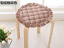 Yancyong Büro Sitzkissen Sitzkissen Pad Pad Pad Solide Runde Hocker Stuhl Schlupf, 30Cm Band, Kaffee