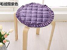 Yancyong Büro Sitzkissen Sitzkissen Pad Pad Pad Solide Runde Hocker Stuhl Schlupf, 35Cm Band, Viole