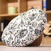 Yancyong Büro Stuhl Kissen Baumwolle Kissen Student Sitzbank Kissen Kissen Balkon Fenster, Durchmesser 68 Cm, Dicke 9 Cm, Streifen