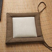Yancyong Das Büro Stuhl Kissen Bettwäsche Kissen Kissen Square Butt Pad Verdickung Studenten, Lange 40 * Breite 40 * Dicke 4 Cm, Kaffee Seite Reismehl