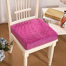 Yancyong Dicke Warme Kissen Rutschfeste Polster Abnehmbare Zip Computer Büro Stuhl Kissen, 40 X 40 Cm, Pink