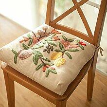 Yancyong Frische Kleine Blume Kissen Wandteppich Der Sitzheizung Verdickung Büro Stuhl Kissen Stickerei Garten Zimmer, 45 X 38 X 8 Cm